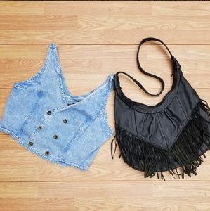 Vintage Denim Dbl Breast Vest